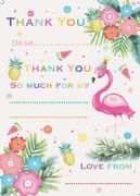 Flamingo Thank You Sheets Pack of 20